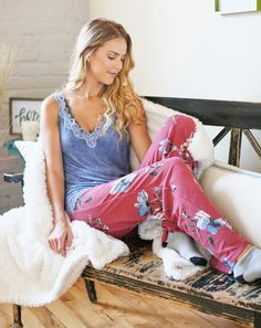 Mix up your  sleepwear with some flair! Check out our floral pajama bottoms c85838e45