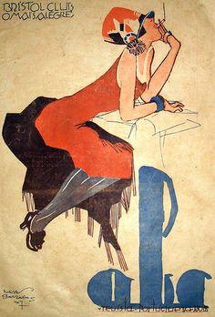 Jorge Barradas, ABC magazine, 1927 on Flickr. (hva)https://www.flickr.com/photos/gatochy/3216804372/in/set-72057594128114212/ Via Blog da Rua Nove. Portuguese artist.