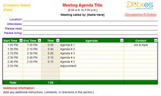 Conference Meeting Agenda Template With Color Format To Improve