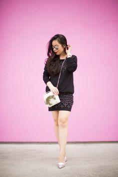 @Kristy Johnston pink pretty wearing #Red23 @b-Low The Belt @ShoeDazzle & @ShopLately