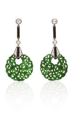 Earrings with jade
