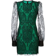 Alexander McQueen fitted lace dress ($1,440) ❤ liked on Polyvore featuring dresses, black, short lace dress, long sleeve short dress, lace cocktail dress, long-sleeve lace dress and short lace cocktail dress