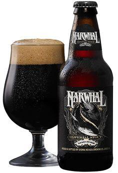 Cerveja Narwhal Imperial Stout, estilo Russian Imperial Stout, produzida por Sierra Nevada Brewing Company, Estados Unidos. 10.2% ABV de álcool.