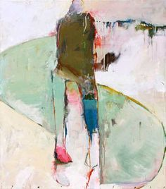Chris  Gwaltney - Chris Gwaltney Crooked Paths an abstract figurative oil painting at Seager Gray Gallery in Mill Valley CA in the San Franc...