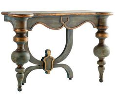 Lacroix Antiquarian Blue Console Table | 55DowningStreet.com