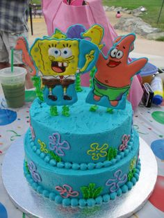 Behold the Spongebob Squarepants cake I made for my niece's birthday last week! 3 Year Old Birthday Cake, 25th Birthday Cakes, Niece Birthday, Birthday Cake Girls, Birthday Ideas, Happy Birthday, Spongebob Birthday Party, Cake Decorating Kits, Girl Cakes