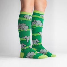 Koala Love Women's Knee High Sock Model Side View