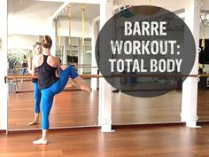 Barre Workout Video - FREE 40 Minute Barre Workout Video At Home: Barre workouts were reportedly one of the most popular workouts last year. Try this video for an introduction to types of exercises done in Barre classes. You'll need 2-3 pound weights and a bar or the back of a chair. Enjoy! ~The Hello Workout Team