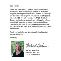 Today we wanted to share this awesome thank you that #ClickSEOMarketing received from the #CEO of the #ALS Society for Franco's generous donation on our behalf. We believe the ice bucket challenge is fun, but donating to the cause will go a lot further. Hoping that we can find a cure! #charity #giving #SEO #marketing #strategy #interntmarketing #growth #ClickSEOMarketing #changinglives #bestinthebusiness #bringingtheworldtoyouoneclickatatime
