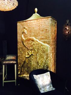 Displaying The Beautiful Camilia Armoire By Koket At Trade Show In New York