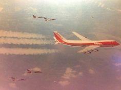 Avianca #Boeing747-259B HK-2980X over Venezuela en route to Rome carrying back Pope John Paul II in July, 1986.