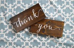 Wedding Thank You Signs Script Style by OAKYdesigns on Etsy