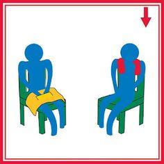 Almofadas e coletes com saquinhos de areia em cima da perna ou pescoço. Ajuda acalmar a criança.