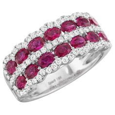 Cheap Diamond Spark Creations - R Ruby and Diamond Ring Affordable Diamond Rings, Unique Diamond Rings, Ruby Diamond Rings, Round Diamond Engagement Rings, Diamond Jewelry, Red Jewelry, Effy Jewelry, Jewelry Ideas, Love Knot Ring