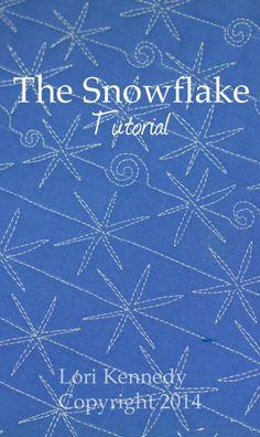 The Snowflake Free Motion Quilting FMQ Tutorial