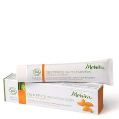 Melvita whitening toothpaste - clay, bamboo, sea salt... mandarin flavor