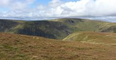 Tour Scotland photograph of Hart Fell ridges near Moffat on ancestry visit to the Scottish Borders of Scotland .     All photographs are cop...
