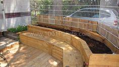 Pallet combo: bench+planter+terrace | 1001 Pallets