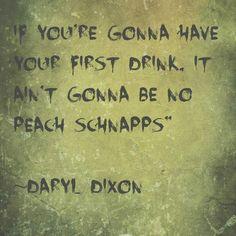 First drink...