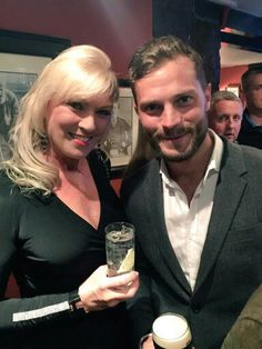 Cute picture of Jamie at Alfred Dunhill Link Gala Dinner last night.