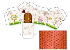 Casita. Winter Wonderland Christmas, Christmas Home, Diy And Crafts, Arts And Crafts, Paper Crafts, Printable Box, Printables, Creative Box, Minecraft Crafts
