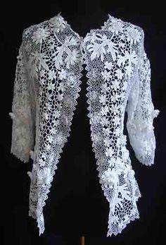 Exquisite Irish Crochet Jacket