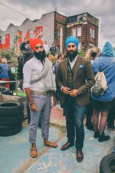 Sikhs, from an historical beard culture.