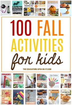 A collection of 100+ fall activities for your child to explore as the season changes. Have fun and learn with apples, acorns, pumpkins & more! Diwali Activities, Halloween Activities For Kids, Outdoor Activities For Kids, Games For Kids, Halloween Party Games, Monster Activities, Kids Learning Activities, Stem Activities, Writing Activities