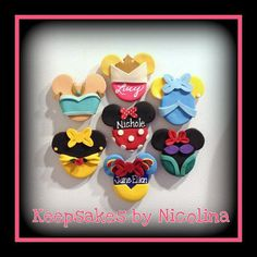 Personalized Disney Princess and Character by KeepsakesByNicolina, $14.00 Cinderella, Snow White, Minnie Mouse, Aurora, Ariel, Jasmine and Belle