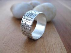 Anillo plata banda anillo para hombre Mens por MadisonHouseDesigns