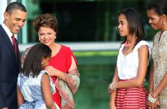 Brasilia. Dilma Rousseff and Obama family. Brazilian President Dilma Rousseff, angry about reports of NSA spying on Brazil, has canceled a state visit to Washington.
