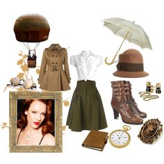 Vintage by thenoblehare on Polyvore featuring polyvore, fashion, style, French Connection, Burberry, Avalaya, Charles Hubert, Brixton, Mykita and WALL
