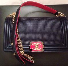 Navy Boy Bag Chanel 2014