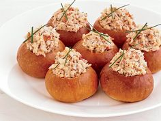 Mini Brioche Lobster Rolls- These rolls, which are a delightful play on the traditional lobster roll, are quite substantial, so one per person is plenty, especially if you're ser. Seafood Dishes, Seafood Recipes, Wine Recipes, Appetizer Recipes, Cooking Recipes, Seafood Platter, Cooking Food, Fall Recipes, Lobster Roll Recipes