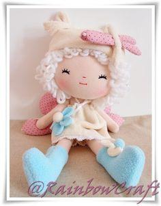 RainbowCraft Drangonfly Fairy Fabric Doll by RainbowCraftHK