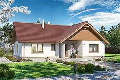 Projekt domu Tracja 2 99,38 m2 - koszt budowy 211 tys. zł - EXTRADOM Cabin, House Styles, Outdoor Decor, Home Decor, Decoration Home, Room Decor, Cabins, Cottage, Home Interior Design