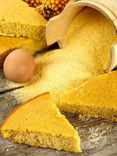 Ricotta, Cake Vegan, Polenta Cakes, Vegan Gluten Free, Cornbread, Italian Recipes, Buffet, Food And Drink, Cooking Recipes