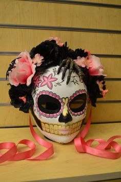 Little Lolita  Day of the Dead Mask Pink and Black by HikariDesign, $135.00