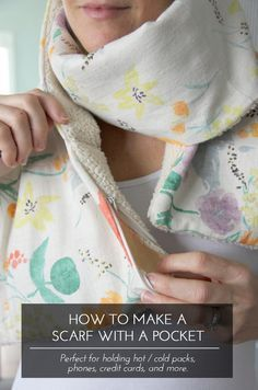 how to sew a pocket scarf | sewingrabbit