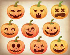 Halloween Pumpkin Clipart. Halloween Pumpkin by allDigitalPapers