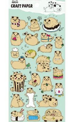 """This is super cute Japanese sticker set.- Material: paper- approx. 9.5cm x 17.5cm (3.7"""" x 6.8"""")- Mad…"""