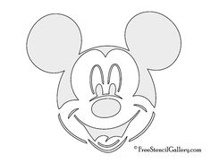 Free Mickey Mouse | Mickey Mouse Stencil
