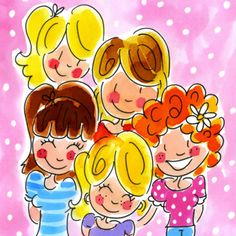 by Blond Amsterdam Amsterdam Party, Amsterdam Girls, Blond Amsterdam, Vintage Valentines, Valentine Crafts, Valentine Wreath, Valentine Box, Love Illustration, Digital Illustration