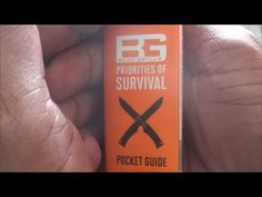 FREE Preparedness Tip #8: Bear Grylls Priorities of Survival Pocket Guide