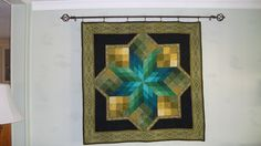 Stained Glass Star Quilt Wall Hanging