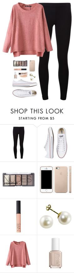 """""""ootd"""" by classically-preppy ❤ liked on Polyvore featuring James Perse, Converse, H&M, NARS Cosmetics, Chicnova Fashion, Essie and Urban Decay"""