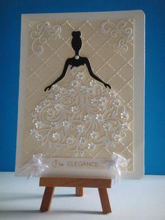 Kit carte défilé de la robe fleurie de la mariée à réaliser vous même