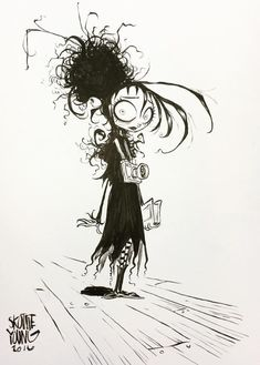 Lydia from Beetlejuice by Skottie Young - Tim Burton Fanart