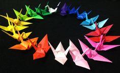 ON SALE // 1000 3'' MultiColor Origami Cranes by OrigamiLandDeco, $89.00
