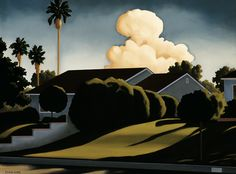 pictorialautobiography: Kenton Nelson, Fair to Outward View Fantasy Landscape, Abstract Landscape, Landscape Paintings, Landscapes, Grant Wood, Diego Rivera, The New Yorker, American Scene Painting, Art Nouveau